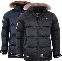 Geographical Norway Herren SEHR WARM Winter Jacke Parka steppjacke Mantel SKI