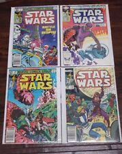 STAR WARS Lot Set: 57 58 59 82 VF Mylite Bagged (1977 Marvel Series)