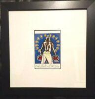 GILBERT & GEORGE - Carry (1992) - art postcard hand signed & framed RARE