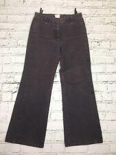 LA STRADA - Purple Floral Detail Flared Denim Jeans - Womens - Size M