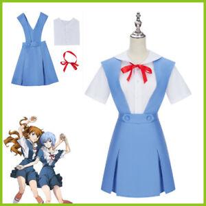 Neon Genesis Evangelion School Girls Dress Uniform Set Cosplay Costume Halloween