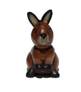 Fair Trade Wooden Sitting Rabbit 17cm tall handcarved in Thailand