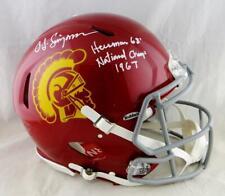 Oj Simpson Signed Usc F/S Speed Authentic Helmet w/ 2 Insc- Jsa W Auth *White