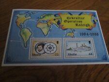 GIBRALTAR 1988  Operation Raleigh Mini sheet SG 603 mnh