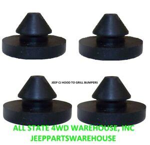 """72-86 Jeep CJ CJ5 CJ7 CJ8 4 Pack Hood To Grille Bumper 5455348 12029.01 3/16"""""""
