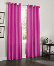 Two Blackout Room Window Curtains 55 x 84 Lined Heavy Thick Panel, Erin, Brown