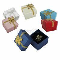 24 / Set Großhandel Schmuck Ring Ohrring Perle Gold Band Geschenk Etui