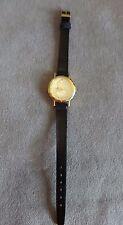 Walt Disney Lorus Quartz Mickey Mouse Gold Dial Unisex Wrist Watch~Navy Band