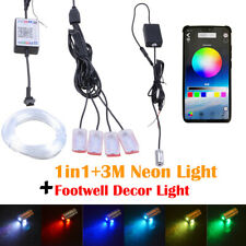 5IN1 3M RGB LED Car Atmosphere Lamp Door Dash Ambient Light Flash Strips APP