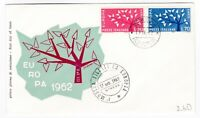 Italy 1962 Europa Cept Tree FDC Stresa Cancel Stamp first day Cover post history