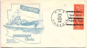 USA 1939 USS Phoenix Shakedown Cruise San Juan Puerto Rico SHS