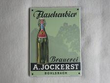 Schild Ferro Email A. Jockerst Bohlsbach Brauerei Flaschenbier Spezial Bier TOP
