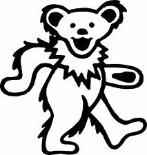 Grateful Dead Bear  Car Window Laptop Vinyl Decal Sticker white in color 3.5x3.5