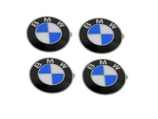 Genuine BMW Wheel Center Cap Emblems x4 Insignia Badge 64.5mm OEM 36136767550