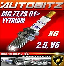 FITS MG ZS ZT V6  BRISK SPARK PLUGS X6 100K GUARANTEE YYTRIUM FAST DISPATCH