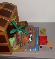 PLAYMOBIL Coffre transportable pirates accessoire personnage perroquet incomplet