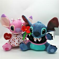 Disney Lilo and Stitch & Girlfriend Angel Wedding Valentine's Day Plush Toy 2pcs
