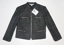 DVF Wool Alpaca Diane Von Furstenberg Black Ivory Roccoco Jacket Sz 10