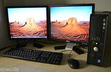 """Dell PC CORE QUAD 500GB HDD 8GB DDR3 WIFI WINDOWS 7 doppio schermo TFT a 2 x 17 """"DELL"""
