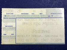 Vintage 1980s Whitesnake / Great White Concert Ticket Stub 1987 Saginaw Michigan