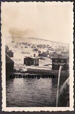 17267 Foto Wehrmacht Gebirgsjäger Norwegen Tromsö Bunkerdepot Kontor WK2 WW2