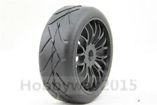 Pre Glued 2pcs 1/8 Buggy On-Road Tyre Nylon Y-Spoke wheel(Black) For GT XO-1