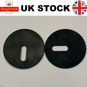 2x Round Toilet Seat Base Plate Washers 42mm Non Slip Hinge Pads