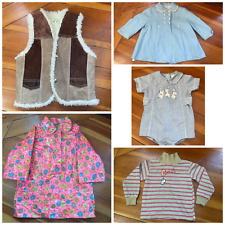 Vintage 1950s 60s 70s Lot Childrens Baby Clothing Dress jacket Shearling vest