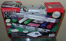 DELUXE POKER SET ALUMINUM CASE 200 DUAL TONED POKER CHIPS