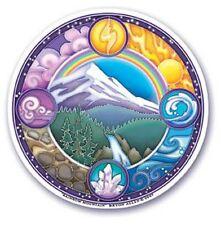 Mandala Arts Autocollant Vitre: Montagne De L'arc En Ciel