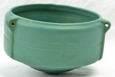 Roseville Pottery Hanging Basket, 1900-10 Matt Green Hanging Basket #3656-5