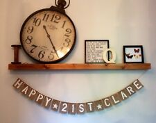 Personalised Birthday Hessian Rustic Vintage Banner Bunting Party Decoration