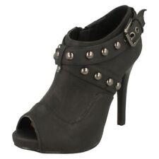 Open Toe Synthetic Zip Shoes for Women