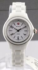 BRAND NEW MICHELE LADIES JETWAY MWW17E000002 MINI WHITE CERAMIC SWISS WATCH
