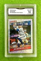 BO BICHETTE ROOKIE CARD GRADED GMA 10 GEM MINT VECTOR PRIZM 2020 Panini  DONRUSS