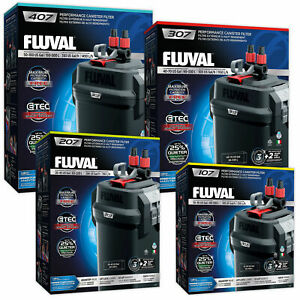 Fluval 107 207 307 407 External Power Filter Complete With Media Hagen