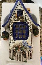 Blue Sky Clayworks Heather Goldminc Medium Candle House- Blue Bird no Base