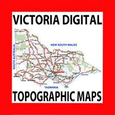 VICTORIAN/VICTORIA DIGITAL TOPOGRAPHIC/TOPO MAPS DVD, OZIEXPLORER,4X4,GPS