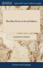 Miscellany Poems on Several Subjects