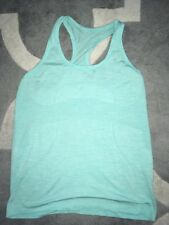 LULULEMON Cool Racerback Women's Tank Top Aquamarine Blue Used no size tags