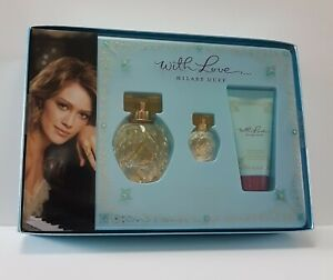 HILARY DUFF WITH LOVE EDP 30ml Spray + 4ml + BODY LOTION 50ml ( NEW BOXED ) SET*