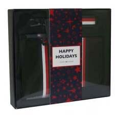 NEW TOMMY HILFIGER Stripe Leather Cardholder & Wallet 3-in-1 Gift Set