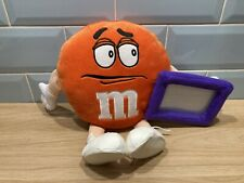 More details for rare m&m's world orange plush soft toy 35cm photo frame with tags collectable