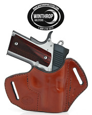 "1911 3"" Barrel Lasergrips OWB No Shield Holster Right Handed Brown"