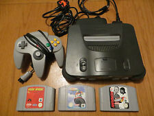 N64 Nintendo 64 Console complete with Official Pad and 3 games Wave Race