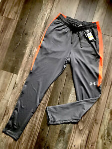 UNDER ARMOUR Mens Grey Tracksuit Pants Bottoms Joggers Medium M Fitted New BNWT