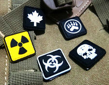 5 Pcs Different Small SKULL PAW LEAF EVIL TACTICAL ARMY MORALE AIRSOFT PVC PATCH