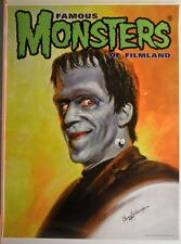 Famous Monsters of Filmland POSTER - HERMAN MUNSTER Gogos Cover art