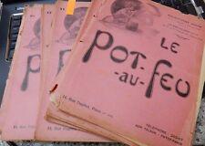 1909 chef français revue Le Pot au Feu: Journal de cuisine grande comme cadeau X23