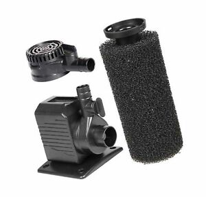 Spaces Places DP250/DP290 250 GPH Submersible Small Sponge Filter Pump for In...